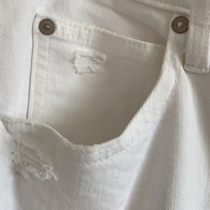 Gap white distressed ankle jeans frayed hem